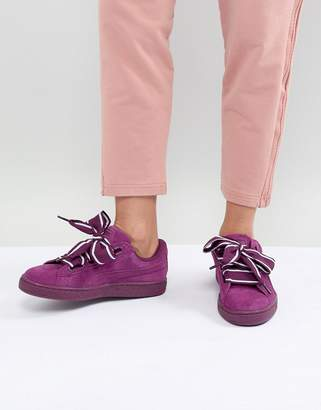 Puma Suede Platform Trainer in Purple