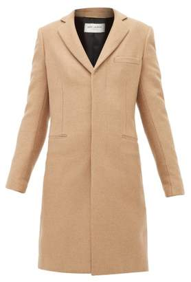 Saint Laurent Single Breasted Camel Hair Coat - Womens - Camel