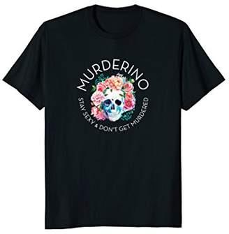 MURDERINO Skull & Flowers - Classic Fit T-Shirt