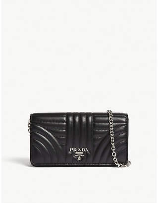 Prada Quilted leather wallet-on-chain