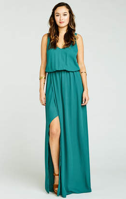 Show Me Your Mumu Kendall Maxi Dress ~ Hutch Green Crisp