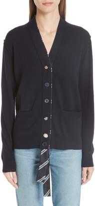 Marc Jacobs Ribbon Detail Wool Cardigan