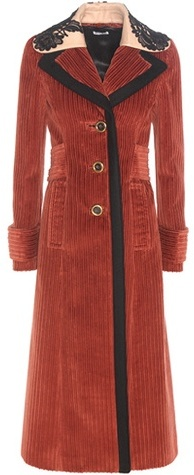 Miu MiuMiu Miu Corduroy and virgin wool coat