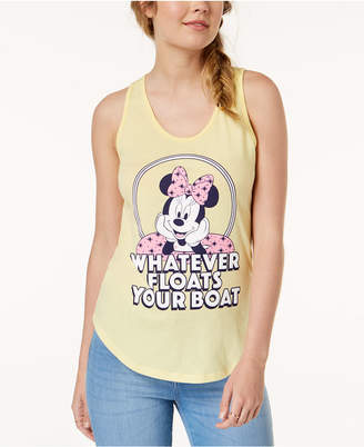 Mighty Fine Juniors' Minnie Mouse Graphic-Print Tank Top