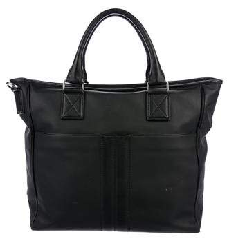 Tod's Leather-Trimmed Coated Satchel