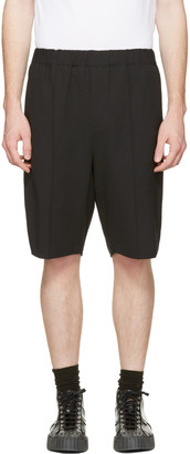 Alexander Wang Black Tailored Lounge Shorts $395 thestylecure.com