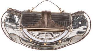 FendiFendi Metallic Leather-Trimmed Satchel