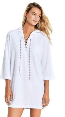 Seafolly Lace Up Towelling Cover Up