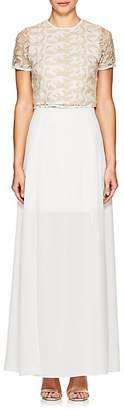 Ali & Jay WOMEN'S EMBROIDERED TOP & CREPE MAXI SKIRT