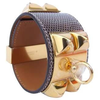 Hermes Collier De Chien Exotic Leathers Bracelet