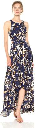 Ali & Jay Women's Bohemian Rhapsody Floral Printed Cut-Out Hi-Lo Maxi Dress