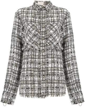 Faith Connexion checked tweed jacket