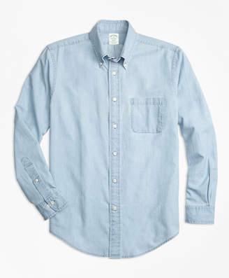 Brooks Brothers Milano Fit Indigo Chambray Sport Shirt