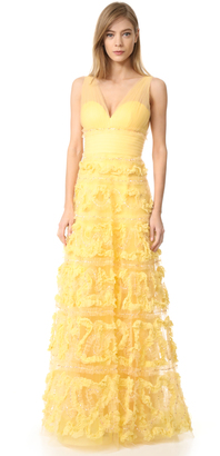 Marchesa Notte A-Line Ball Gown $1,395 thestylecure.com