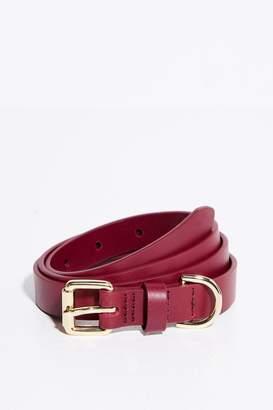 Jack Wills Huntlywood Leather Skinny Belt