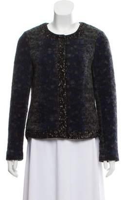 Gryphon Sequined Wool Jacket Grey Sequined Wool Jacket