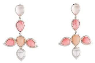 Elizabeth Showers Multistone Kaleidoscope Chandelier Earrings