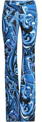 Emilio Pucci Printed Stretch-Jersey Flared Pants