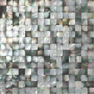 "Vogue Tile Mother of Pearl Backsplash Wall Tile s 11.75"" X 11.75"" Natural Colorful Seamless"