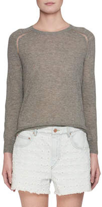 Etoile Isabel Marant Crewneck Fine-Knit Sweater
