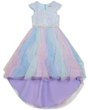 Rare Editions Little Girls Sequined Cascade Unicorn Dress