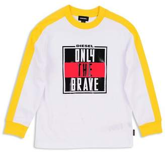 Diesel Boys' Tesmi Only the Brave Tee - Big Kid