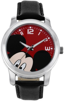 Disney Disney's Mickey Mouse Peekaboo Unisex Leather Watch