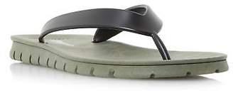 Dune Mens INCLINE Sporty Sole Flip Flop Sandal in Khaki