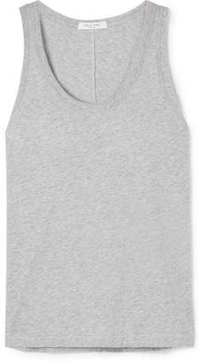 Rag & Bone Slub Pima Cotton-jersey Tank - Gray