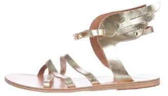 Ancient Greek Sandals Leather Ankle Strap Sandals