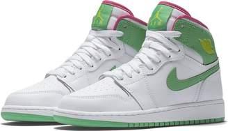 Nike JORDAN 1 RETRO HIGH GG Girls sneakers 332148-134 girls basketball-shoes 332148-134_7.5Y - WHITE/VIVID PINK/CYBER/GAMMA GREEN