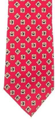 Burberry Vintage Abstract Print Silk Tie