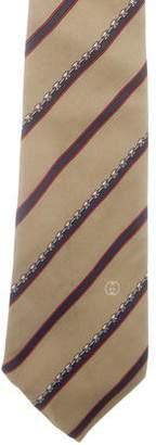 Gucci Striped Print Silk Tie