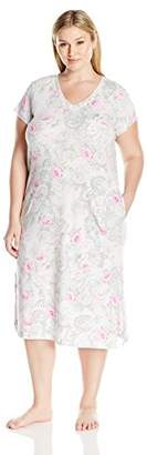 Miss Elaine Women's Plus-Size Cottonessa Nightgown