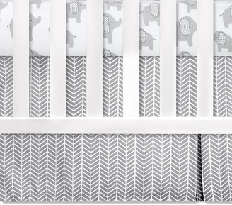 Wendy Bellissimo Hudson Chevron Crib Dust Ruffle