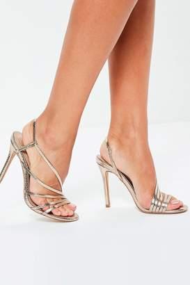 b4167d6a7d81 Next Womens Missguided Asymmetric Strap Heel Sandals