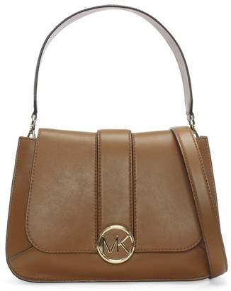 Michael Kors Medium Lillie Acorn Leather Flapover Satchel Bag