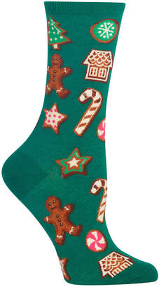 Hot Sox Women Decorative Cookies Crew Socks