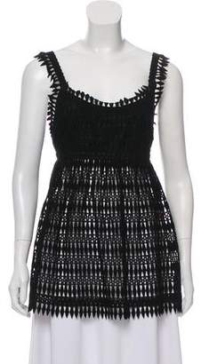 Anna Sui Guipure Lace Sleeveless Top