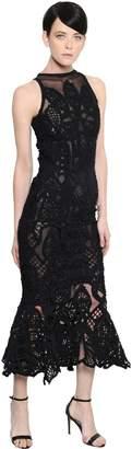 Jonathan Simkhai Ruffled Lace & Tulle Mermaid Dress