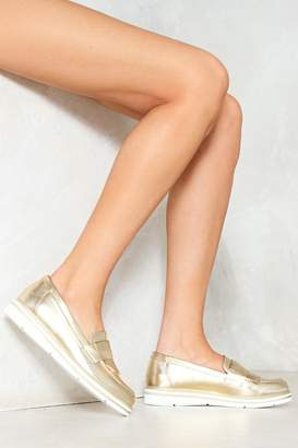 Nasty Gal Honor Roll Metallic Loafer