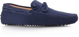 Tod's Laced Gommino Suede Driving Shoes
