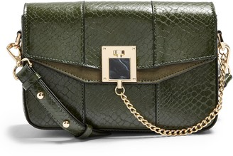 Topshop Crissy Faux Leather Crossbody Bag