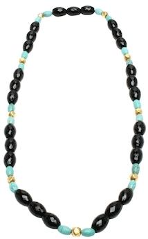 Amrita SinghBerna 18K Yellow Gold, Turquoise & Onyx Necklace