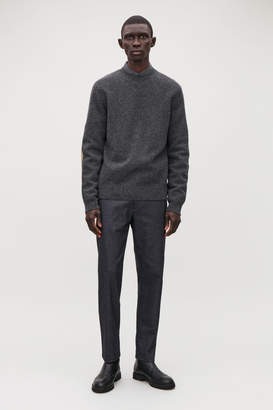 Cos LAMBSWOOL JUMPER WITH ELBOW PATCHES