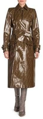Fendi Glazed Logo Trench Coat