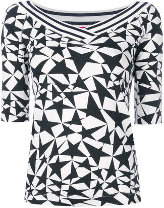 Marc Cain star-print knitted top