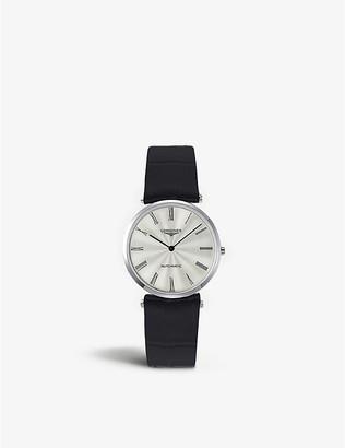 Longines L4.908.4.71.2 La Grande Classique de stainless steel and leather watch