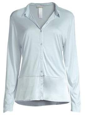 Hanro Grand Central Silk-Blend Sleep Shirt