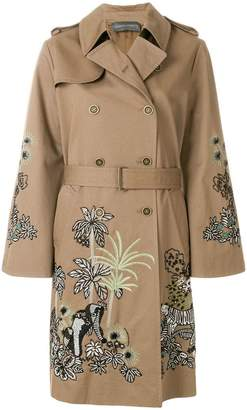 Alberta Ferretti embroidered trench coat